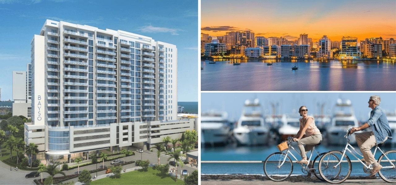 Bayso Sarasota Rendering and Downtown Sarasota View
