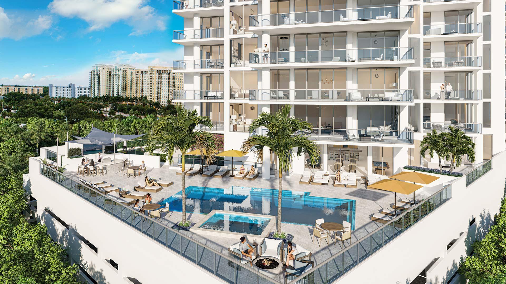 Bayso Sarasota Pool Deck | Artist's Rendering