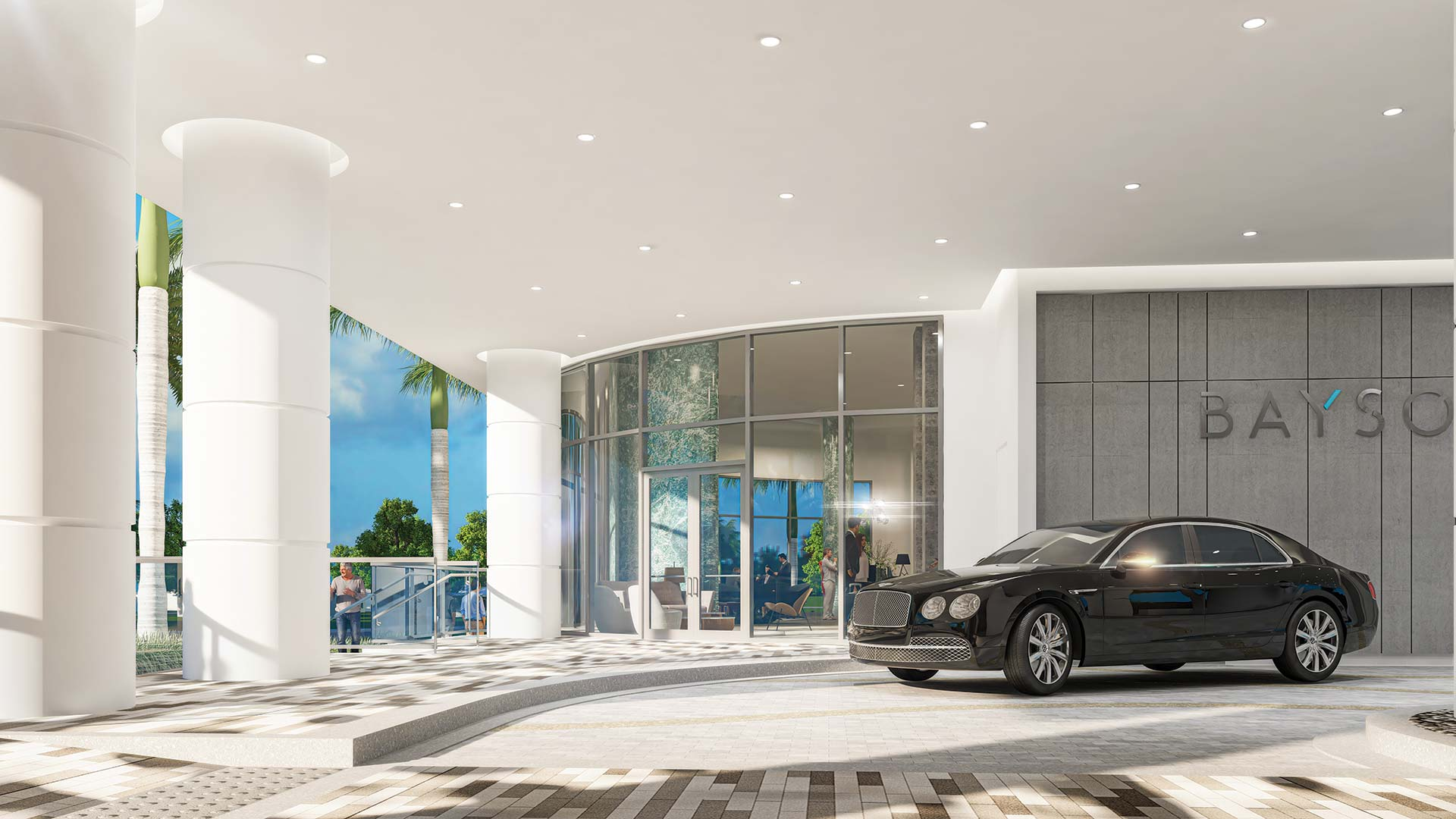 Bayso Arrival Courtyard | Artist's Rendering